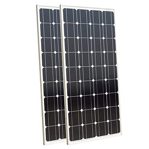 ECO-WORTHY 200W Solar Panel 2pc 100W 12V Monocrystalline Photovoltaic PV Module for Charging 12V Battery in Caravan, Motorhome, Boat, Yacht - Iop-modul