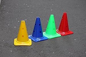 agility sport pour chiens - lot de 4 cônes avec trous, 30 cm - 4x MZK30ybrg