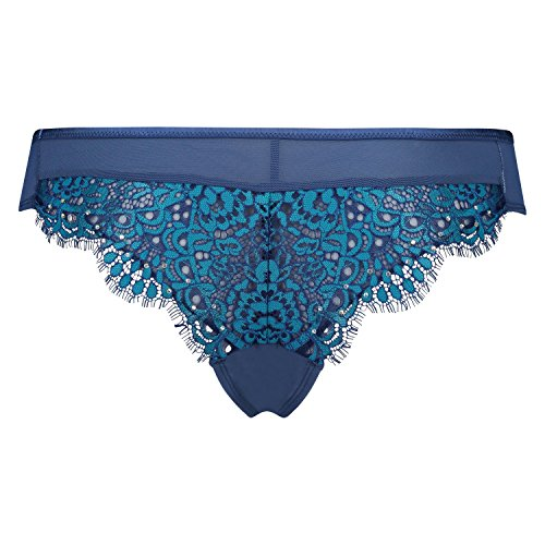 Hunkemöller Damen Brazilian Azure 121497 Blau L (Panty Brazilian)
