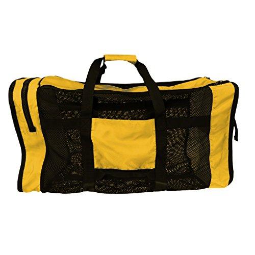 Gazechimp Tauchtasche, leicht, groß, praktisch - Netztasche - Gelb