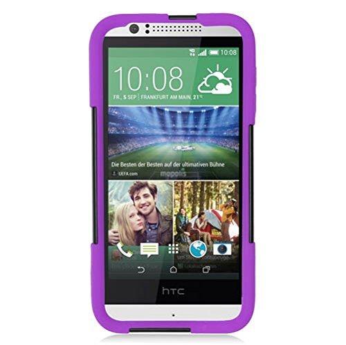 Eagle Zelle Hybrid-Schutzhülle mit Ständer für HTC Desire 510-Retail Verpackung, violett/schwarz