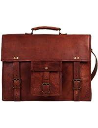 Mk Bags Vintage Bags Genuine Leather Messenger Bag Cum Office Bag 93