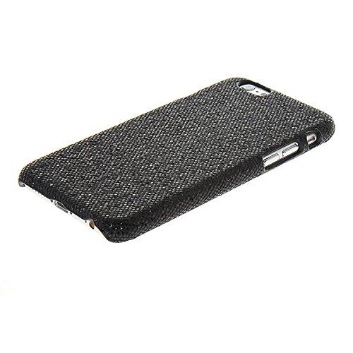 iPhone 6Fall, coolke Luxus Glitzer Haut Fall hart, Cover aus Kunststoff stark Armor für APPLE IPHONE 6(11,9cm), plastik, schwarz, Apple iPhone 6 schwarz