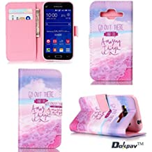 Dokpav® Samsung Galaxy Core Prime SM-G360 Funda,Ultra Slim Delgado Flip PU Cuero Cover Case con Interiores Slip compartimentos para tarjetas-Crear un sueño