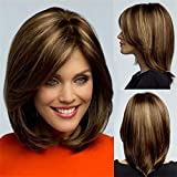 WCS Perücken Europa und Amerika Damen Rose Intranet gemischt Gold Perücke kurze glatte Haare Perücke