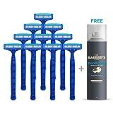 #9: Dorco LetsShave Pace 3 Disposable Razor Kit - Three-Blade Disposable Shaving Razor - Pack of 10 Razors + FREE Shaving Foam 200 g