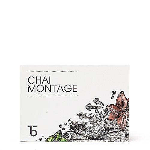 Teabox Chai Montage Tea Gift Pack | Includes: Kesar Delight, Choco-Muscat, Maharaja Rana, Kashmiri Kahwa, Assam Masala, Bombay Cutting - 30g of Each