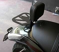 Sissy Barra de pasajero negro con almohadilla trasera para equipaje, desmontable, liberación rápida,