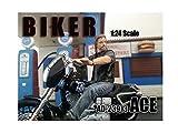 Biker Ace Motorradfahrer Modell Figur 1:24 American Diorama AD-23913 -