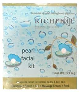 Richfeel Pearl Facial Kit, 5x6g