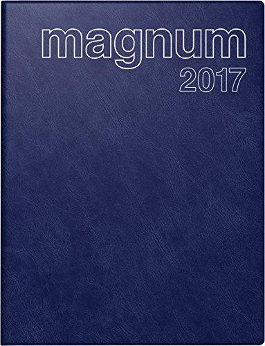 Preisvergleich Produktbild rido / idé 702704238 Buchkalender magnum (2 Seiten = 1 Woche,  183 x 240 mm,  Schaumfolien-Einband Catana,  Kalendarium 2020) dunkelblau