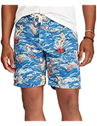 da9c53b72b Ralph Lauren Polo Men's Big and Tall Kailua Surf Swim Trunks (Hawaiian  Surfer)
