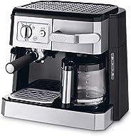 ماكينة تحضير القهوة المفلترة والاسبريسو كومبي من ديلونجي - لون فضي، Bco 420