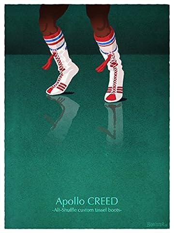 Rocky–Apollo Creed–Rocky–Apollo Creed–Ali Custom Limited Edition Pigment Print Film Poster Film Poster Bannister Original unterschrieben und nummeriert Film Poster, bannshoes Serie