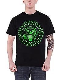 Ramones T Shirt Presidential Seal Grün Fill Band Logo Nue Offiziell Herren