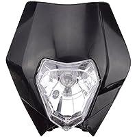 GOOFIT schwarz 12V 35W Scheinwerfer Frontscheinwerfer Lichtmaske mit Front Verkleidung für Motorrad Dirt Bike Motocross Supermoto Supermoto Schwarz dit pocket bike