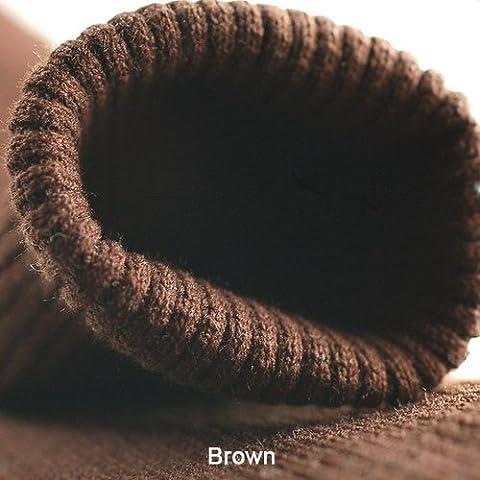 Neotrims Knit Rib Fabric & Cuffs Bande de tricot sans coutures Mélange acrylique et élasthanne Coloris au choix Vente au mètre - Marron - marron, Tubular (7cm)