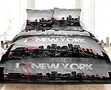 Le linge de Jules Housse de couette 240X260 + 2 taies Pur coton 57 fils NEW YORK