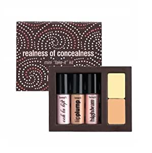"BENEFIT COSMETICS Realness Of Concealness Mirrored Portable MINI ""fake-it"" kit"