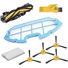 Kit de accesorios de limpieza para robots aspiradores Conga Excellence: 4 cepillos laterales, 1