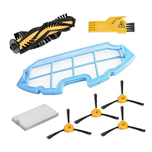 Kit de accesorios de limpieza para robots aspiradores Conga Excellence: 4 cepillos laterales, 1 cepillo central, 1 filtro EPA, 1...