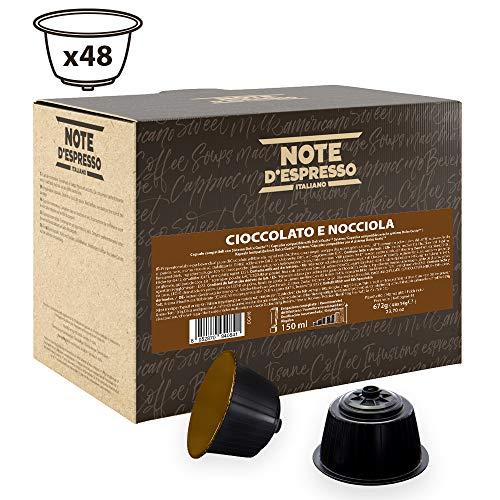 Note D'Espresso - Cápsulas de chocolate con avellana exclusivamente compatibles con cafeteras Dolce...