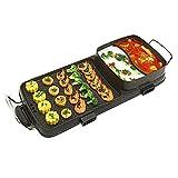 Senza Fumo Coreano Hot-Pot Design Multi-Funzione Forno Elettrico Barbecue Antiaderente Pan BBQ Grill E Hot Pot