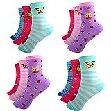 HighClassStyle 12 Paar Ladies Socks Mädchen Socken Kinder Strümpfe 90% Baumwolle A.S-100 Gr. 23-38 Verschiedene Farben und Motive (27-30)