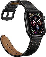 سوار ساعة أبل من الجلد الأصلي متوافق مع سوار بديل 38 مم 40 مم 42 مم 44 مم من أبل سيريس 1، 2، 3، 4، 5، 6