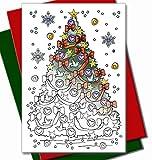 Art Eclect Weihnachtskarten zum Ausmalen für Erwachsene und Kinder | 10 Einzigartige Designs zum Ausmalen und Versenden | Einschließlich Umschläge | Set C2