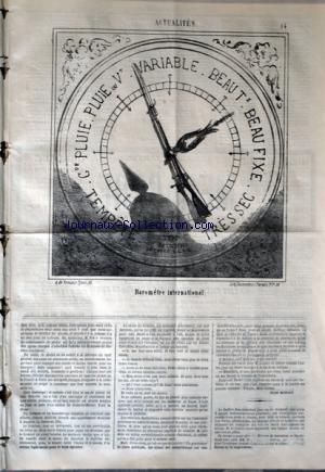 CHARIVARI (LE) du 27/01/1868 - BAROMETRE...