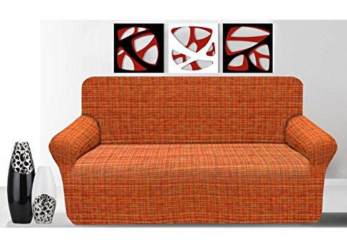 BIANCHERIAWEB Copridivano Elasticizzato Granada 3 Posti Arancione