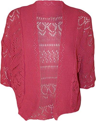 Fast Fashion - Plus La Taille Bouffant Crochet Tricoté Stretchy Haussement - Femmes Fuchsia
