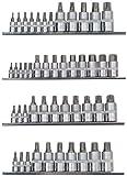 Famex Werkzeug 10729-47 Steckschlüssel-Einsätze für Innensechskant-Schrauben, Vielzahn XZN, Torx- und Ribe-Schrauben, 47-teilig