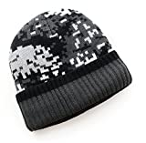 Ayouyou Herbst Winter Herren Wolle Gestrickte Skimütze Camouflage-Hut im Freien