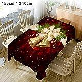 Yves25Tate Weihnachts Tischdecke, Winterlandschaft weihnachtliches Druck-Motiv, für Herbst Winter Weihnachten