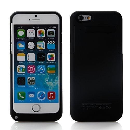 """ZOGIN para iPhone 6 / 6s 4.7"""" 3200mAh Funda de Batería Externa / Funda Protectora Cargador / Funda de Batería Integrada Recargable de Alta Capacidad con Soporte de Móvil Plegable, Color Negro"""