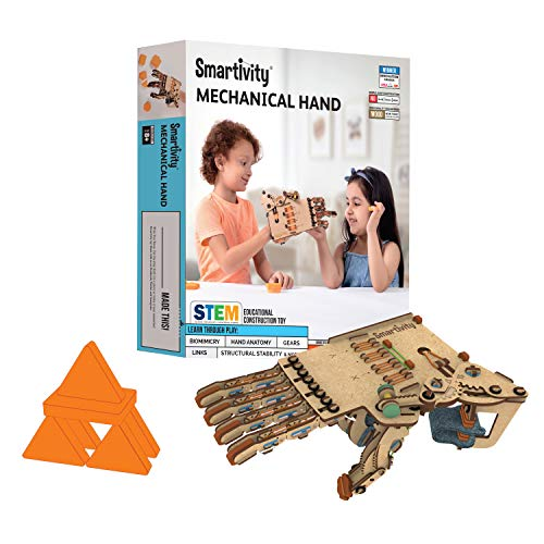 Smartivity Mechanical Hand for 8+ Years Boys and Girls, Stem Learning and Educational DIY Activity Kit