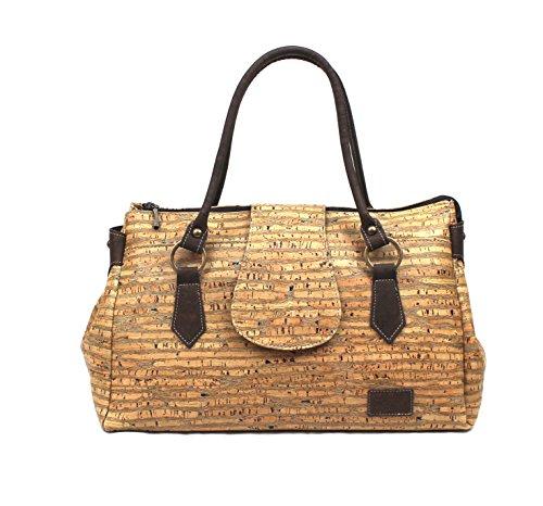SHOULDER BAG FOR WOMAN by Dux Cork VEGAN GENUINE PORTUGUESE PREMIUM Cork Fabric Leather