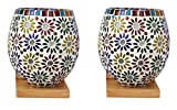 Somil Colorful Decorative Mosaic Wall Lamp (Set Of 2)-BA2