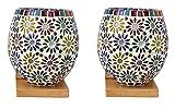 Somil Colorful Decorative Mosaic Wall Lamp (Set Of 2)-BA2