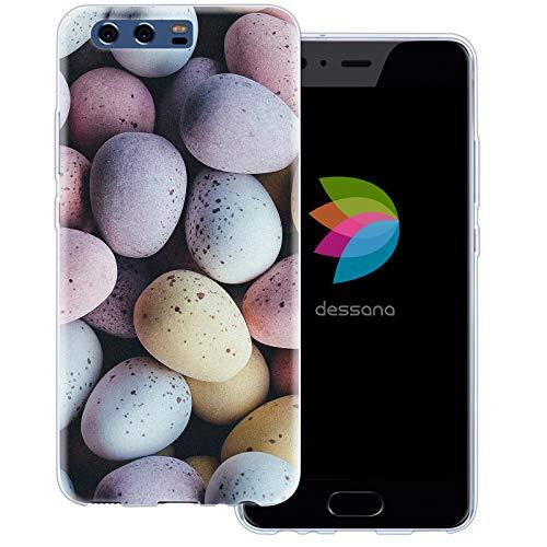 dessana Candy Süßigkeiten Transparente Schutzhülle Handy Case Cover Tasche für Huawei P10 Oster Eier