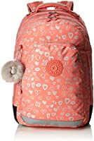 Kipling CLASS ROOM School Backpack, 43 cm, 28 liters, Multicolour (Hearty Pink Met)