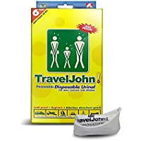 Travel John - Disposable Urinal - Pack of 6 by Travel John