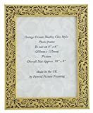 Handmade Gold Floral Vintage Picture Frame for an 8 x 6 -inch (203mmx152mm) Photo