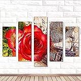 Riou DIY 5D Diamant Painting Voll,Stickerei Malerei Crystal Strass Stickerei Bilder Kunst Handwerk für Home Wand Decor Gemälde Kreuzstich Festlich Weihnachten 5PCS (Mehrfarbig E, 5PCS)