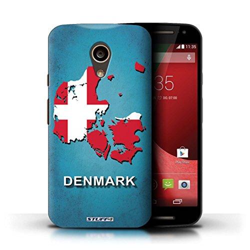 Kobalt® Imprimé Etui / Coque pour Motorola Moto G (2014) / Chine/Chinois conception / Série Drapeau Pays Danemark/Danoise