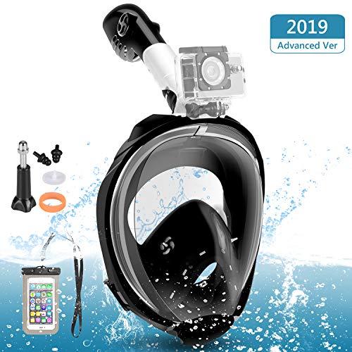 Máscara Buceo, Máscara Snorkel Visión 180 ° Anti-Fugas