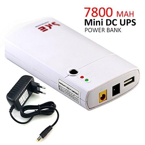 Inepo Mini UPS GM312, unterbrechungsfreie Stromversorgung mit integriertem Li-Ion-Akku mit 7800mAh; Eingangsleistung 11–13V DC, Powerbank für Router, LED-Lichterketten, Kameras, Mobiltelefone und andere Geräte.