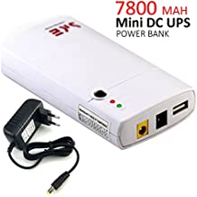 iNepo GM312Mini UPS Uninterrupted Power Supply Built-in 7800mAh Lithium Battery 11–13VDC Input voltage Power Bank For Wireless Router, LED light, Camera, Phone and other Red Peripherals (Model GM312)